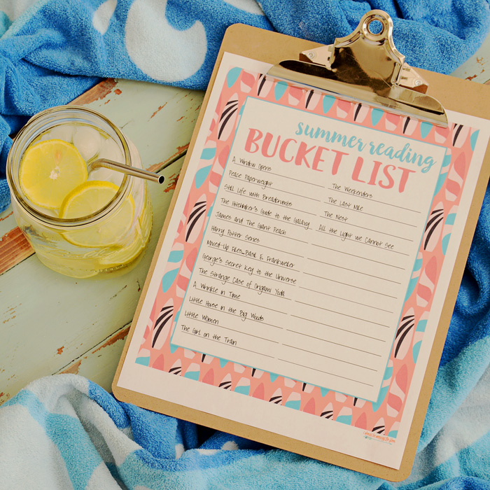 Free Printable Summer Reading Bucket List