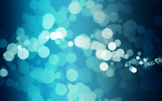 Abstract Lights Bokeh Blue Background HD Wallpaper