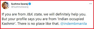 Epic Tweet by Sushma Swaraj