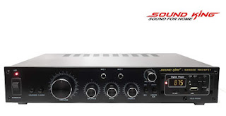 SOUND KING SK 9000 Mosfet - 2 CH Karaoke Mixer Amplifier with Microphone Input