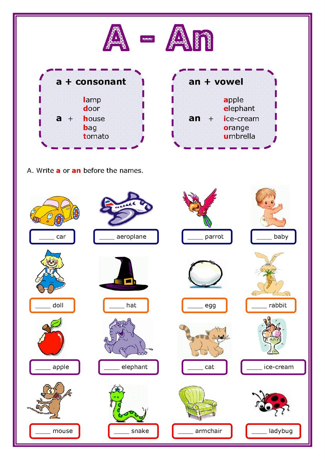 Learning Grammar Online Grammar Article A An And The