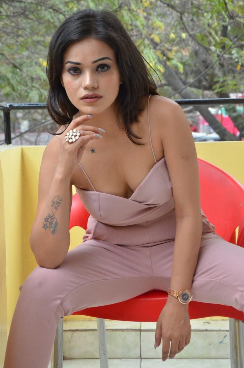 Aakarshika Goyal at Naa Peru Raja teaser event