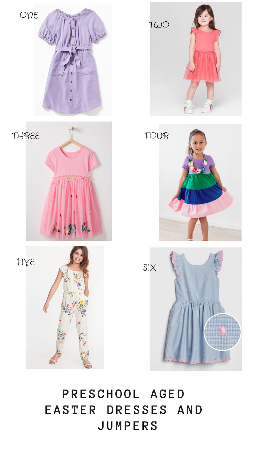 preschool aged Easter outfits