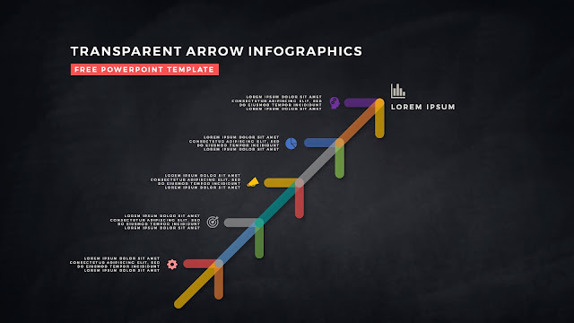 Transparent Arrow Design Elements for Free PowerPoint Template Slide 14