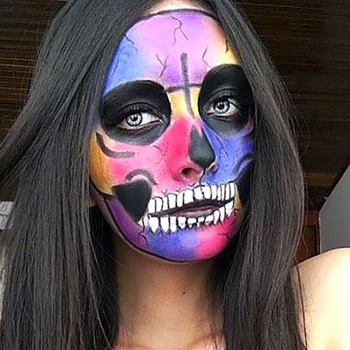 maquillaje de calavera mexicana original
