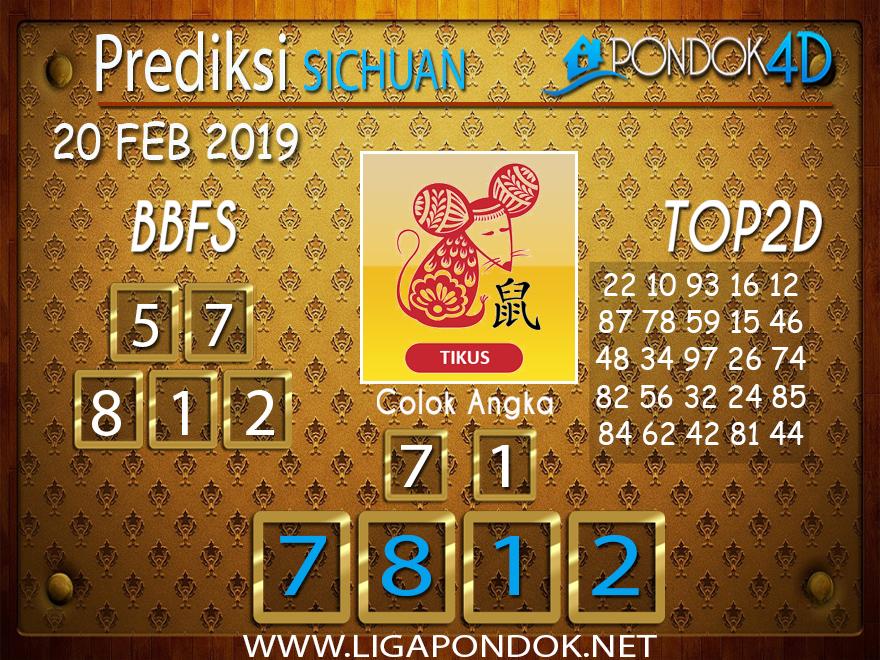 Prediksi Togel SICHUAN PONDOK4D 20 FEBRUARI 2019