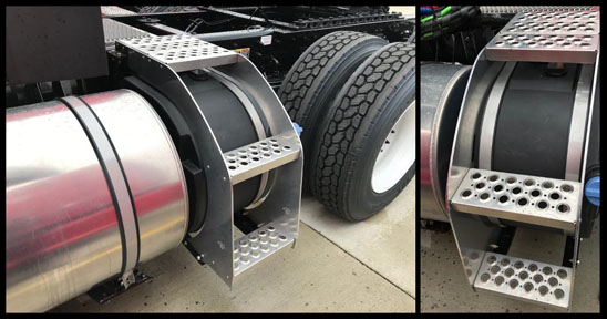 Kenworth Def Tanks with Integrated Steps