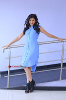 Telugu Actress Mounika UHD Stills in Blue Short Dress at Tik Tak Telugu Movie Audio Launch .COM 0048.JPG