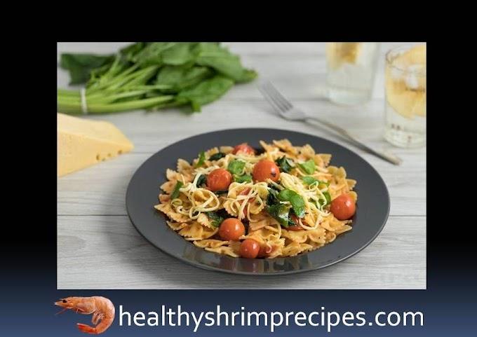 Shrimp tomato spinach pasta