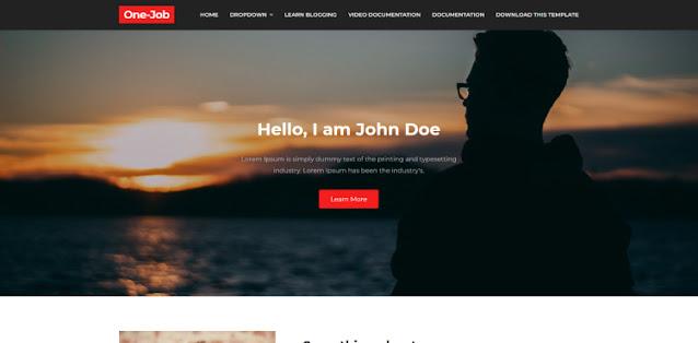 One Job тема для одностраничного сайта с блогом