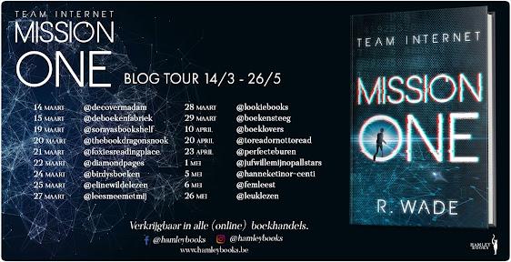 Overzicht van de bloggers voor de blogtour Mission One door R. Wade