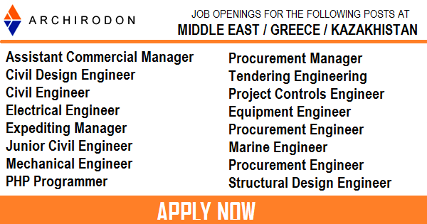 Gulf Job Vacancies Archiridon Engineering And Construction Jobs