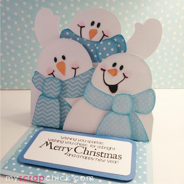 snowmen easel card tutorial myscrapchick