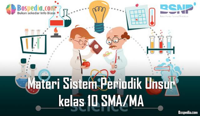 Materi Sistem Periodik Unsur kelas 10 SMA/MA