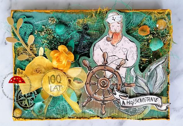Koloroton – kartka żółto turkusowa