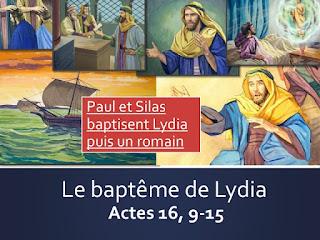 ouvrir la page le baptême de lydia