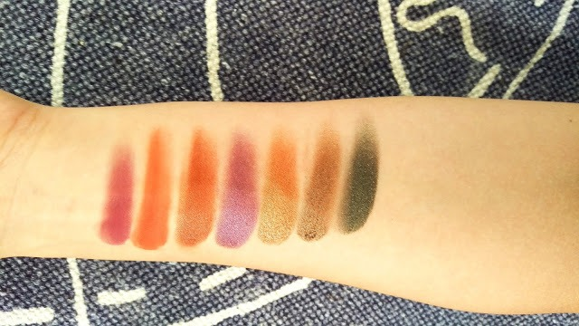 Urban decay born to run swatches 2