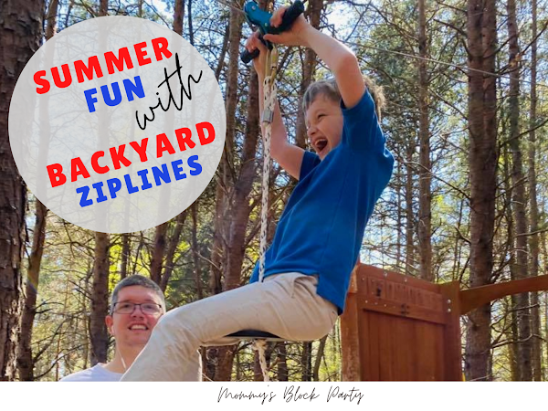 Backyard Ziplines Will Have Your Kiddos Begging For More Outdoor Time This Summer #MBPSummer21