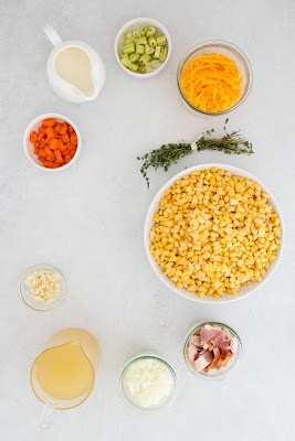 This easy Instant Pot dinner recipe is full of your favorite savory flavors! Crispy bacon bits, cheddar cheese and juicy corn kernels give this creamy chowder some great texture and taste! Perfect for those busy weeknights during the fall and winter when you need something good to warm you up!