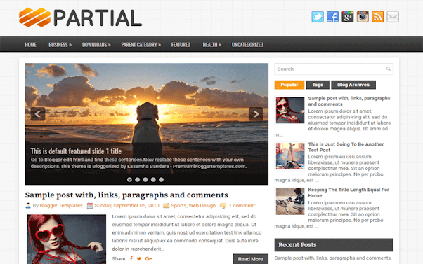 Partial Free Blogger Template
