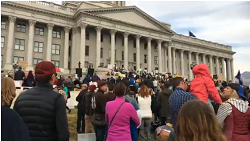 Thousands protest in Utah against Trump's monument reduction plan