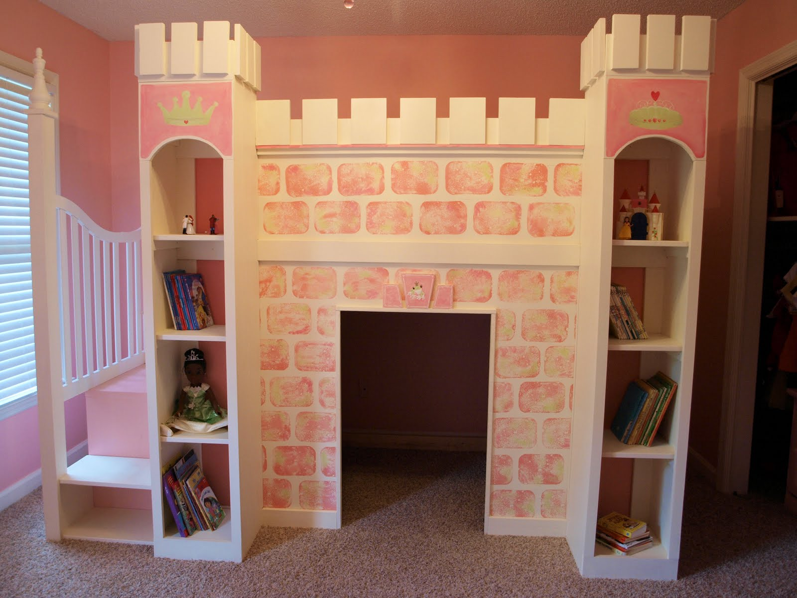 Stare if you must.......... Finished Castle Loft Bed