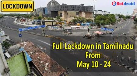 TN Full Lockdown in Tamilnadu: From May 10 Lockdown starts | Check TN Full Lockdown 2021 Latest News