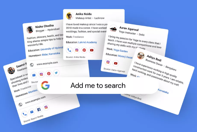 Google Introduced a new Search Feature in India - People Card,people card