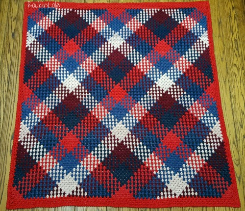 Granny Stitch Planned Pooling Blanket - Free Pattern