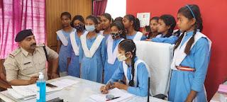 महिला दिवस के अवसर पर मुस्कान गुप्ता बनी एक दिन के लिए शहपुरा नगर निरीक्षक