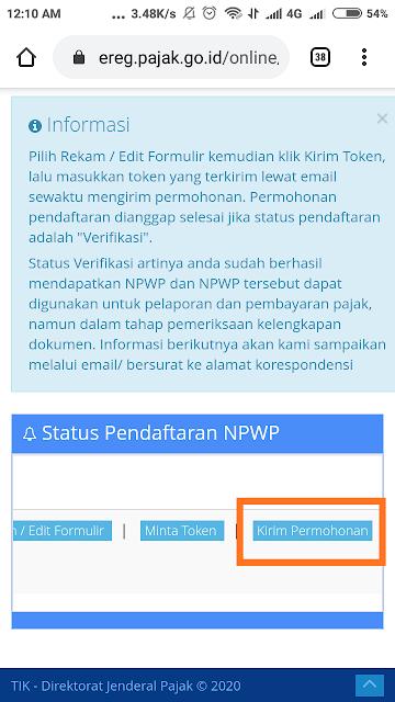 npwp online daftar