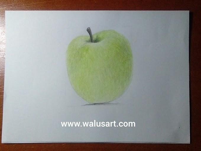Cara Menggambar Apel (Tahap 2)