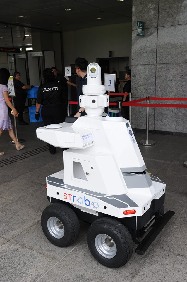 #HaveYouSeen a roving robot patrolling outside Hougang MRT Station today?