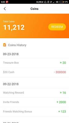 Bukti Penukaran Coins Dengan Paypal dari Aplikasi VeeU Android