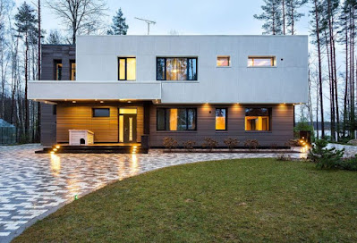 House exterior design with contemporary style idea