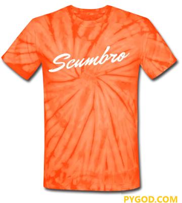 SCUMBRO unisex tie dye T-shirt