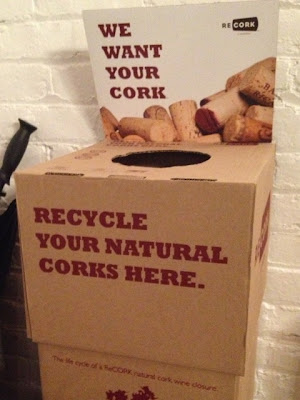 cork recycling collection box