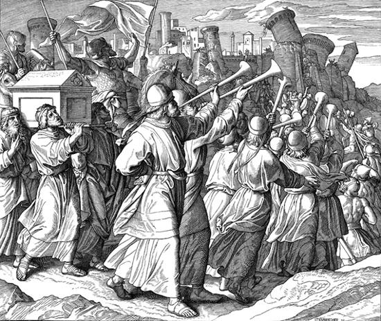 Ilustrasi bangsa israel membawa Tabut perjanjian