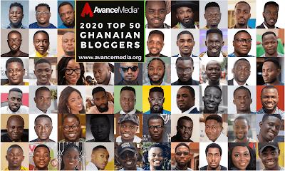 Avance Media Announces 2020 Top 50 Ghanaian Bloggers Ranking