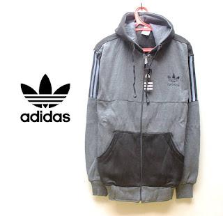 Jaket Fleece Hoodie Adidas