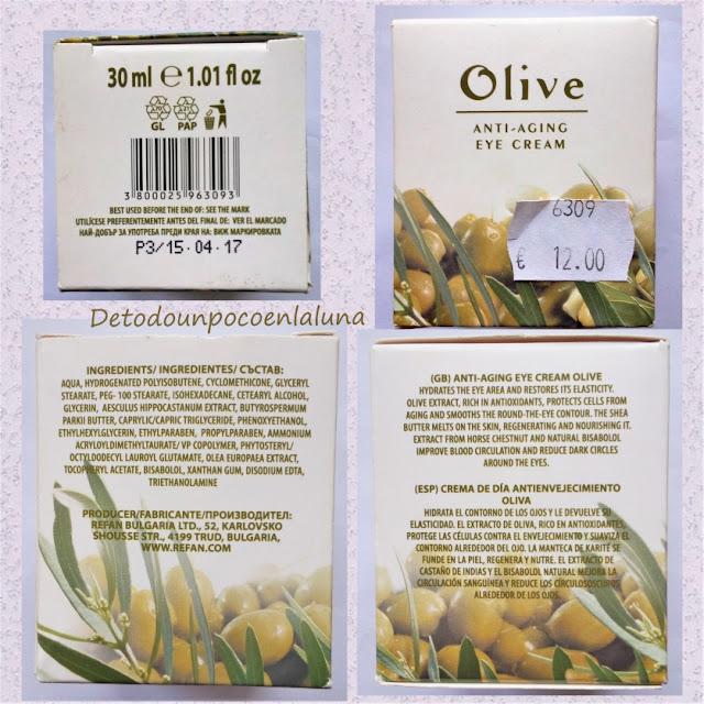 contorno de ojos de oliva de refan