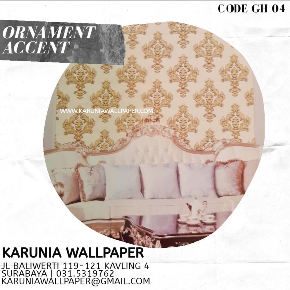 jual wallpaper dinding ornamen batik