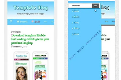 Download template mobile editblogtema Lime style