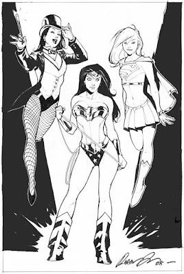 Zantanna, Wonder Woman, and Supergirl