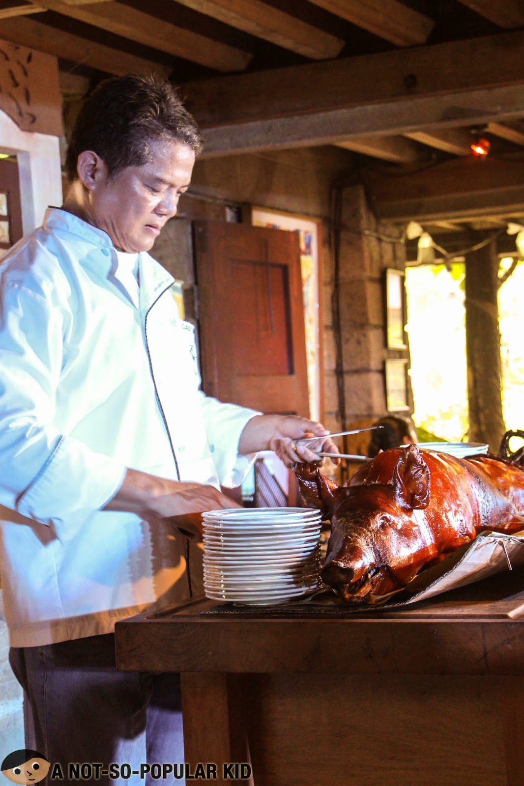 Chef Claude Tayag with his Four Ways Lechon