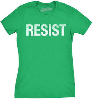 Womens Resist Tee United States of America Protest Rebel Political T Shirt