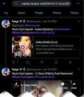 Advanced Twitter Search results for Music that Inspires in a given date range