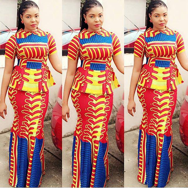 Creative Ankara Skirt And Blouse Style Dezango Fashion Zone