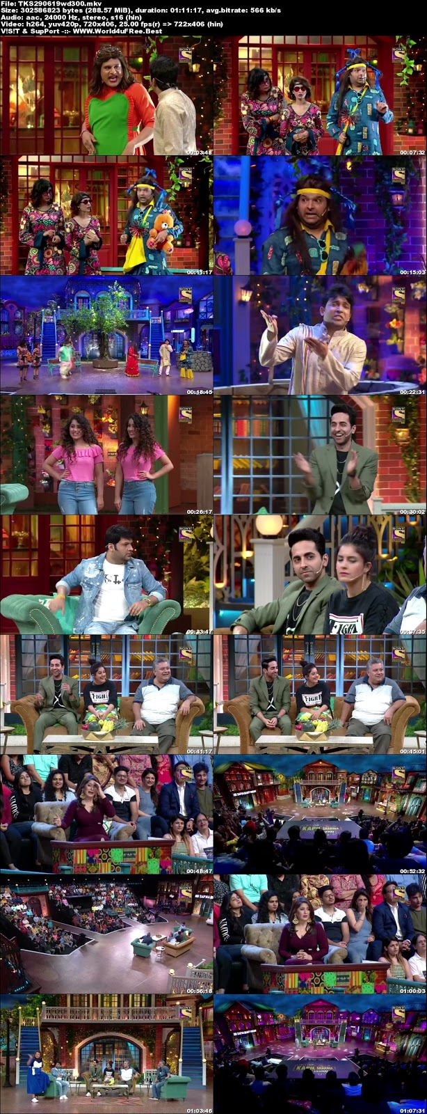 The Kapil Sharma Show 29 june 2019 480p WEBRip 300Mb