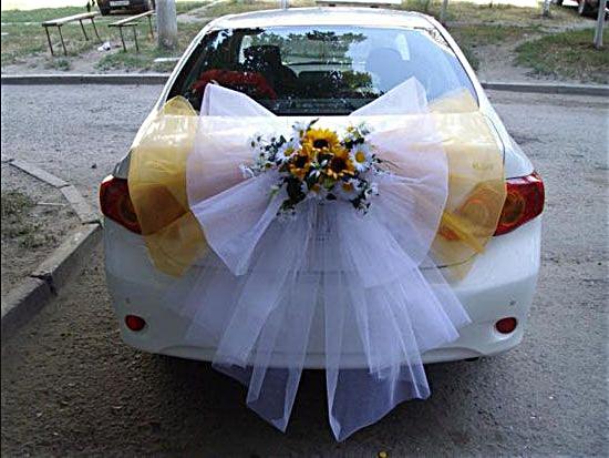 decoration voiture mariage invites